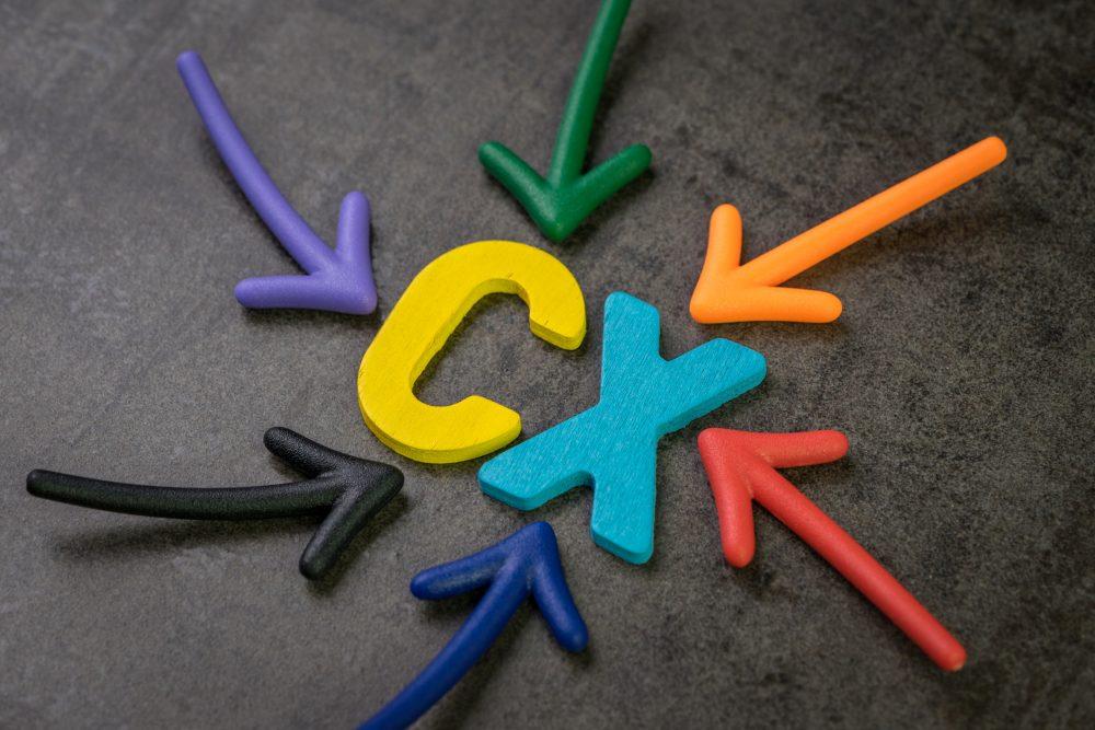 ilustracja; litery C i X otoczone strzałkami
