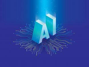 napis AI na przewodach