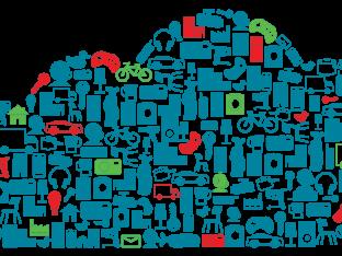 ikony urządzeń umieszczone w kształcie przypominajacym chmurę