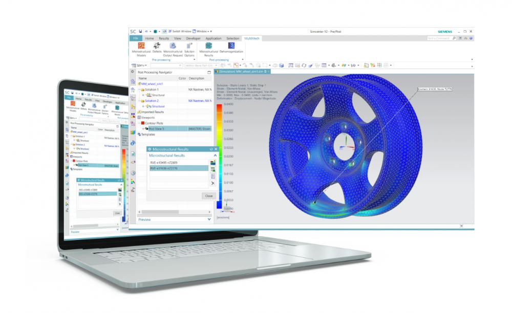 Zrzut ekranu z oprogramowania MultiMechanics