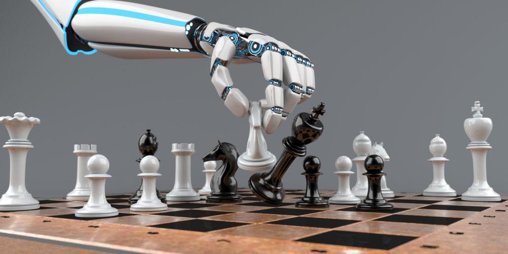 robotyczne ramię i szachy