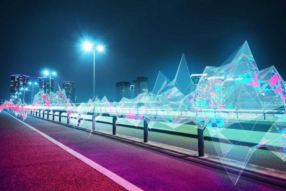 koncept miast połączonego siecią