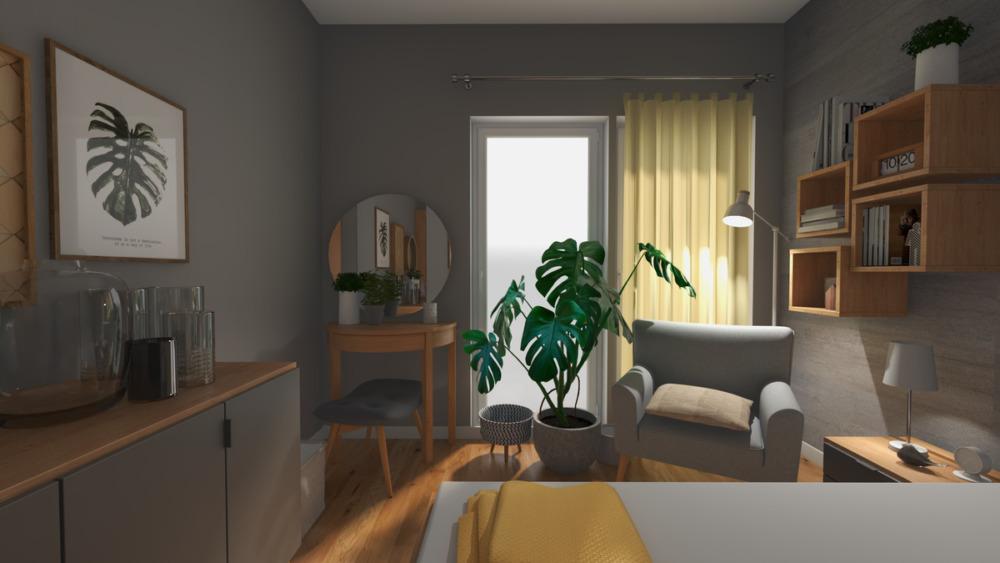 projekt aranżacji wnętrza sypialni