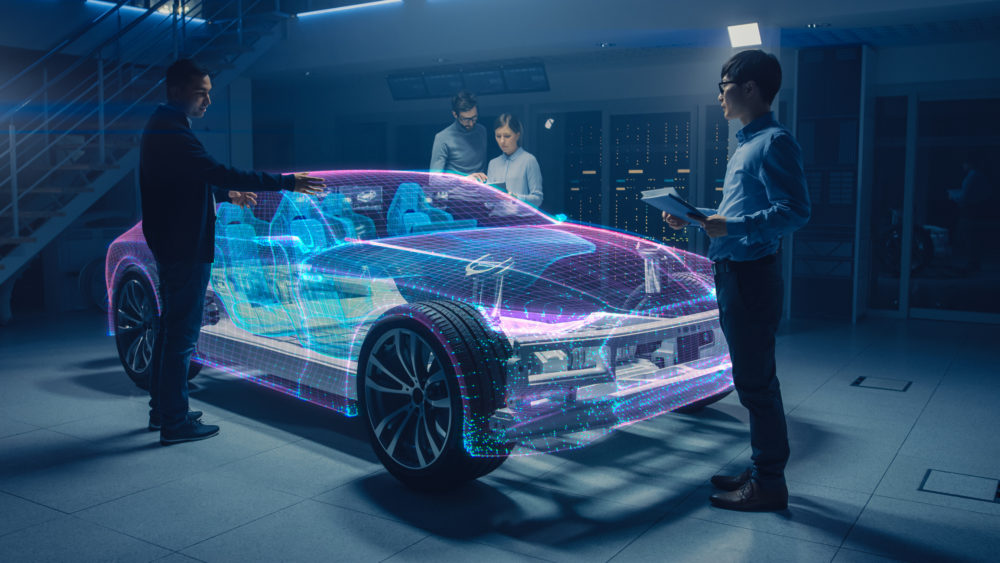 cyfrowy model samochodu